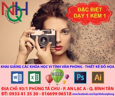 khóa học photoshop dạy photoshop cấp tốc